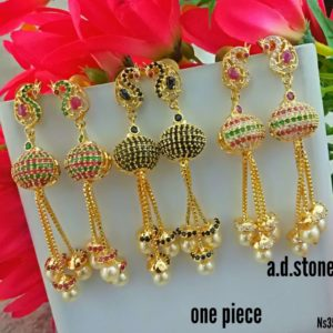 1gm gold earring collections in chennai