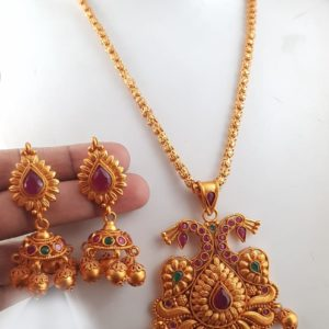 matte chain pendant set in andhra pradesh