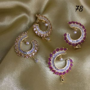 Antique kundan and earrings