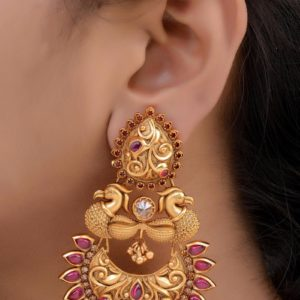 new arrival 1gm gold matte jumka collections in hyderbad
