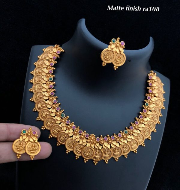 1gm gold necklace designs