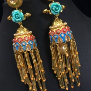 Beautiful one gram gold earrings