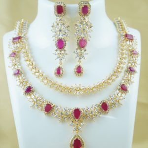 top cz stone necklace designs