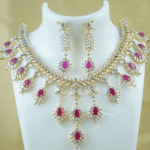 cz stone necklace designs collections