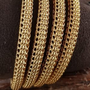 1gm gold antique bangle