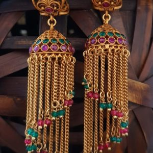 Beautiful One Gram Gold Matte Jhumka Earrings