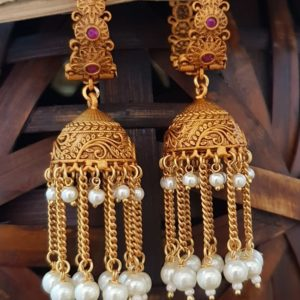 latest matte jhumka earrings