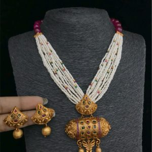 one gram gold necklace designs