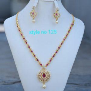 cz necklace design