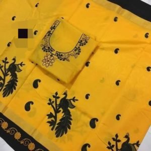 Pure kota sarees with flower embroidery/peacock embroidery saree