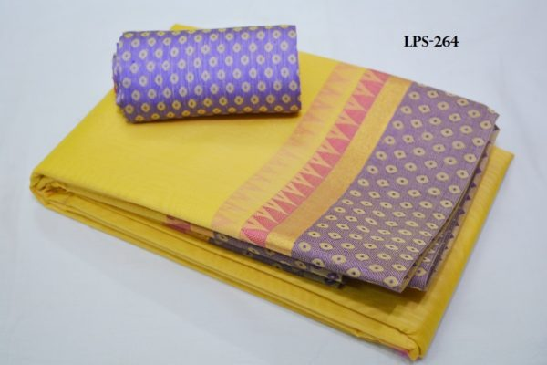 Core cotton sarees with jacquard blouse
