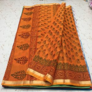 cotton kota printed saree