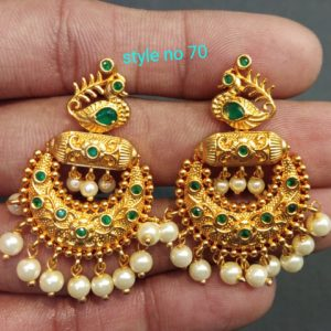 one gram gold earrings vizag