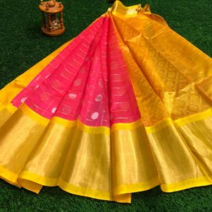 kuppadam pattu mothi checks bouta design sarees