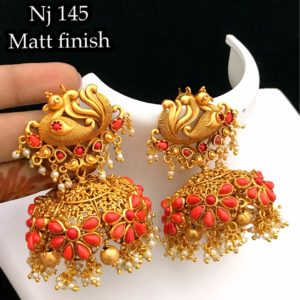 latest one gram gold earrings