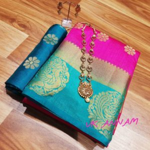 Beautiful Tussar silk saree collections