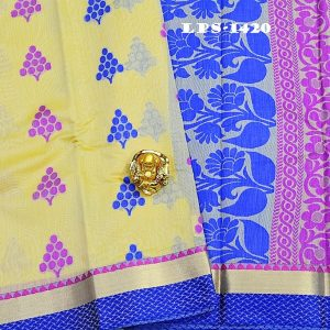 new arrival cora cotton butt sarees with jacquard blouse